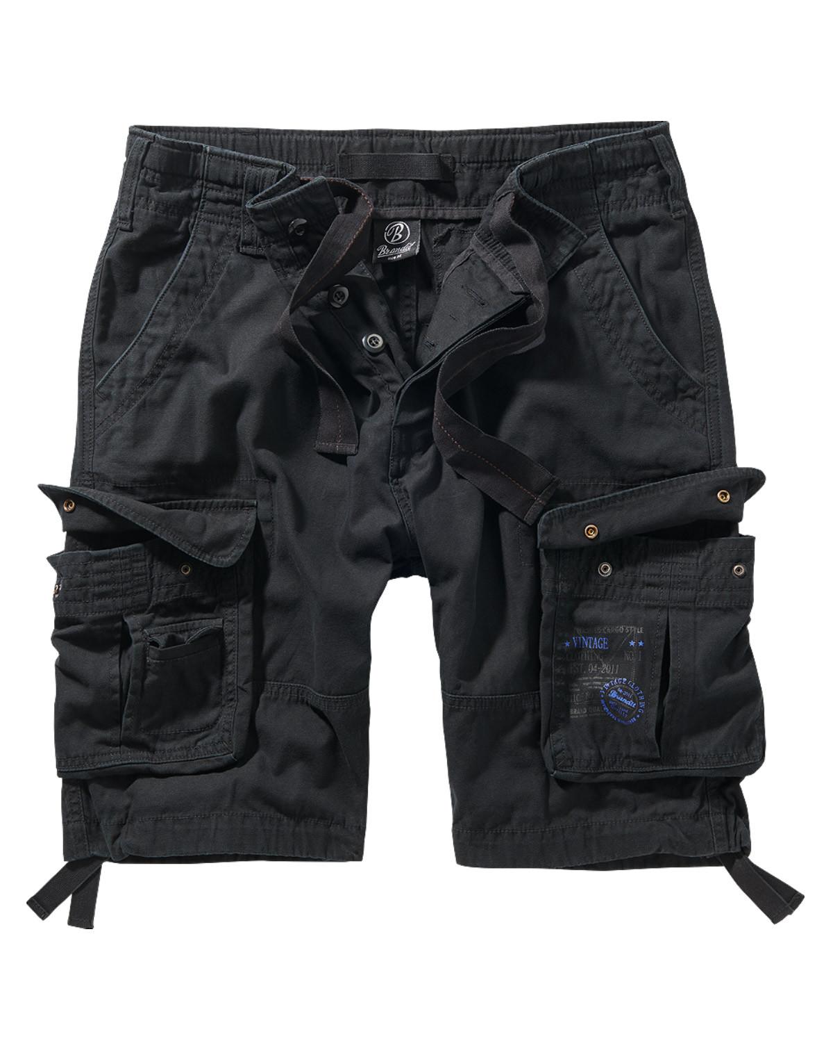 Image of   Brandit Pure Vintage Shorts (Sort, 2XL)