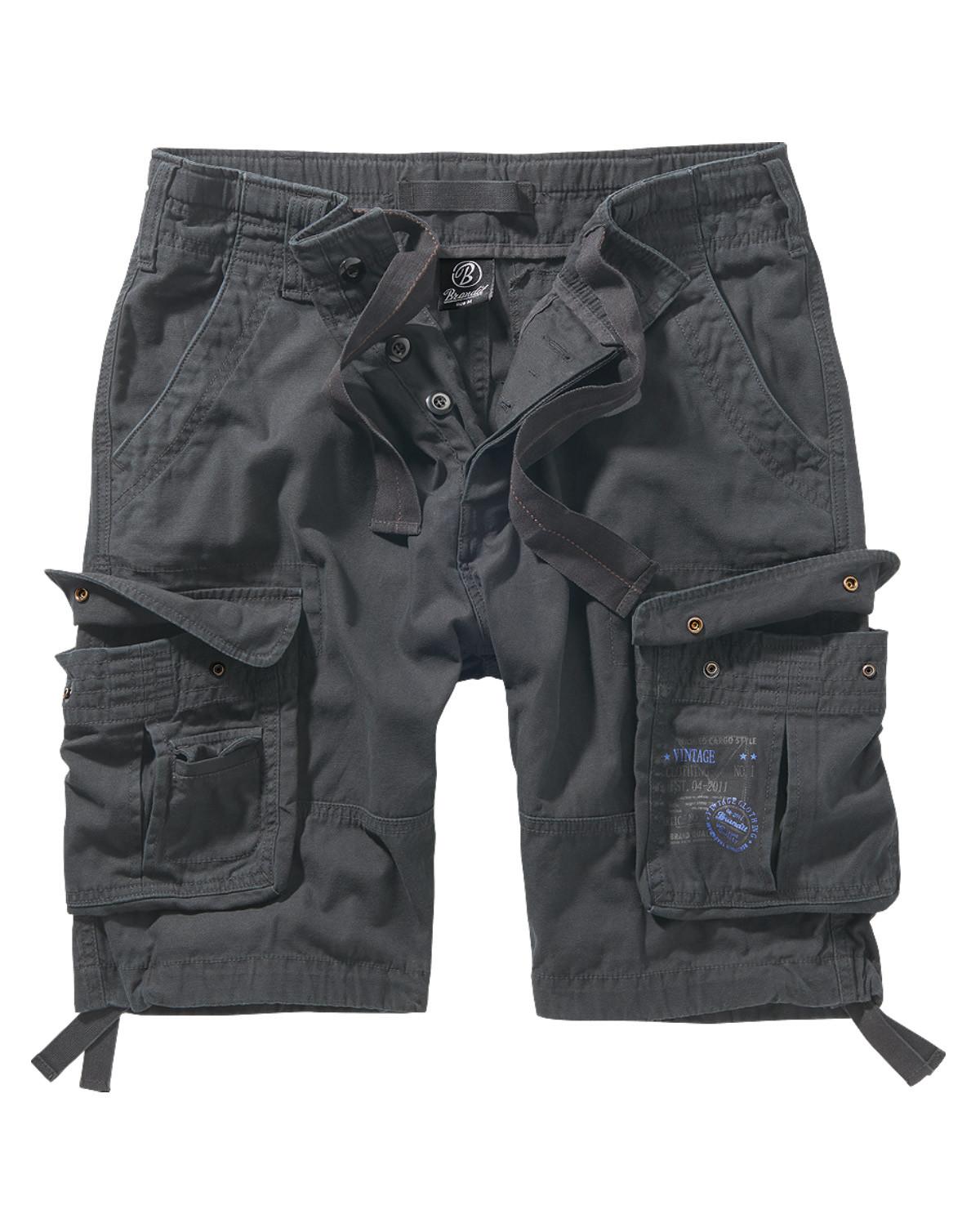 Image of   Brandit Pure Vintage Shorts (Anthrazit, 2XL)