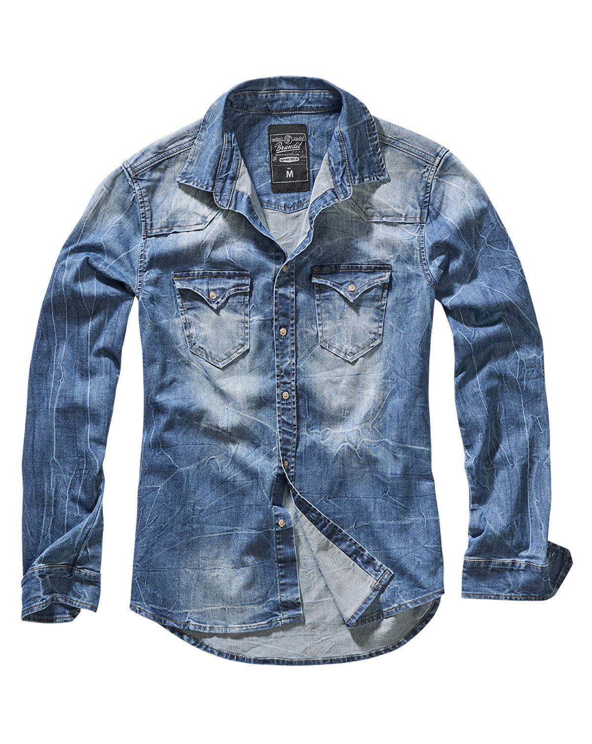 Image of   Brandit Riley Denim Skjorte (Denim Blå, 2XL)