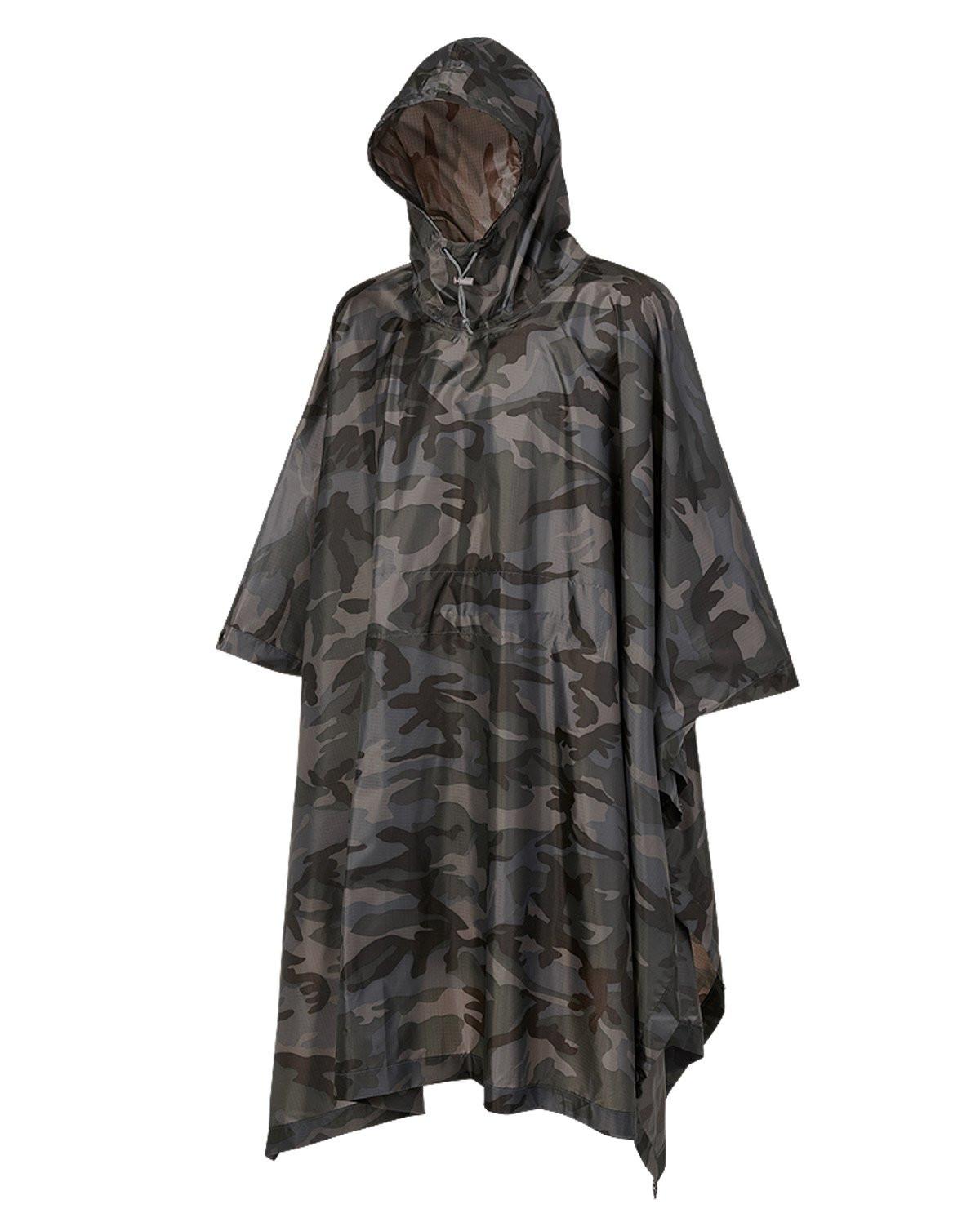 Image of   Brandit Ripstop Poncho (Dark Camo, One Size)