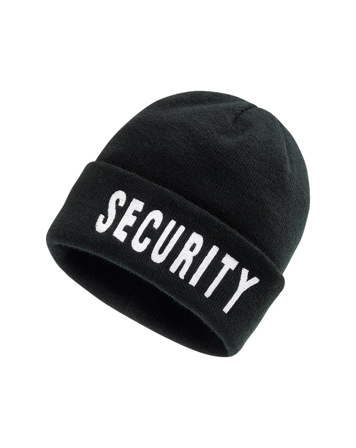 Image of   Brandit Beanie - 'Security'-brodering (Sort, One Size)