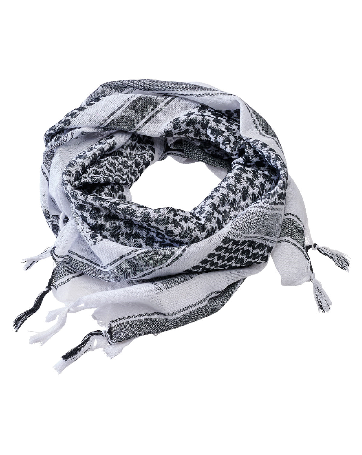 Image of   Brandit Shemag Scarf (Hvid / Sort, One Size)