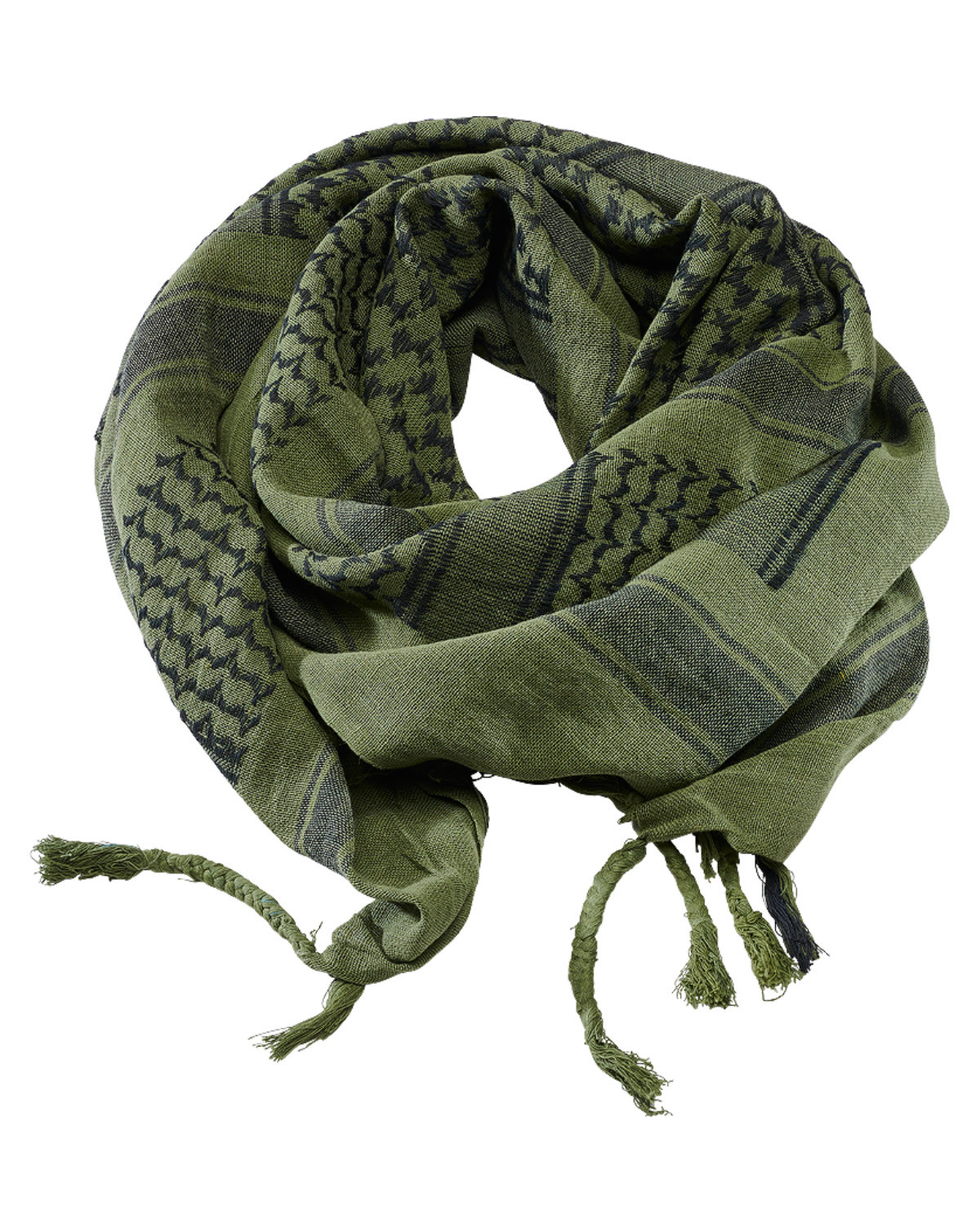 Image of   Brandit Shemag Scarf (Oliven / Sort, One Size)
