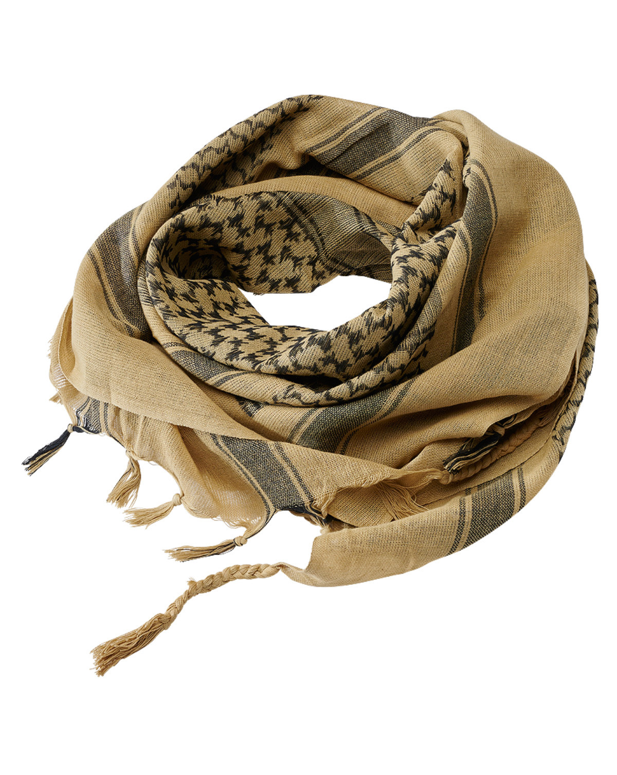 Image of   Brandit Shemag Scarf (Black / Khaki, One Size)