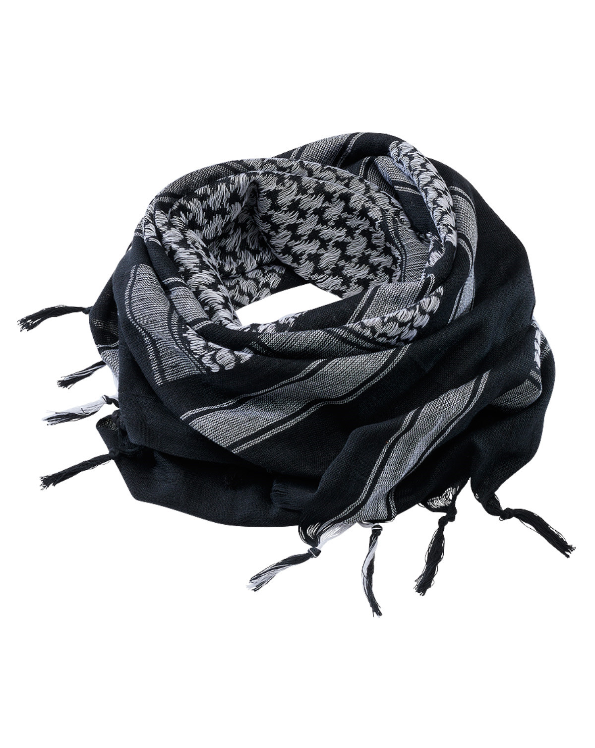 Image of   Brandit Shemag Scarf (Sort / Hvid, One Size)