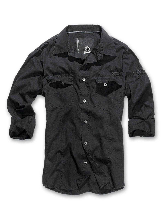 Image of   Brandit Slim Fit Vintage Skjorte (Sort, 3XL)