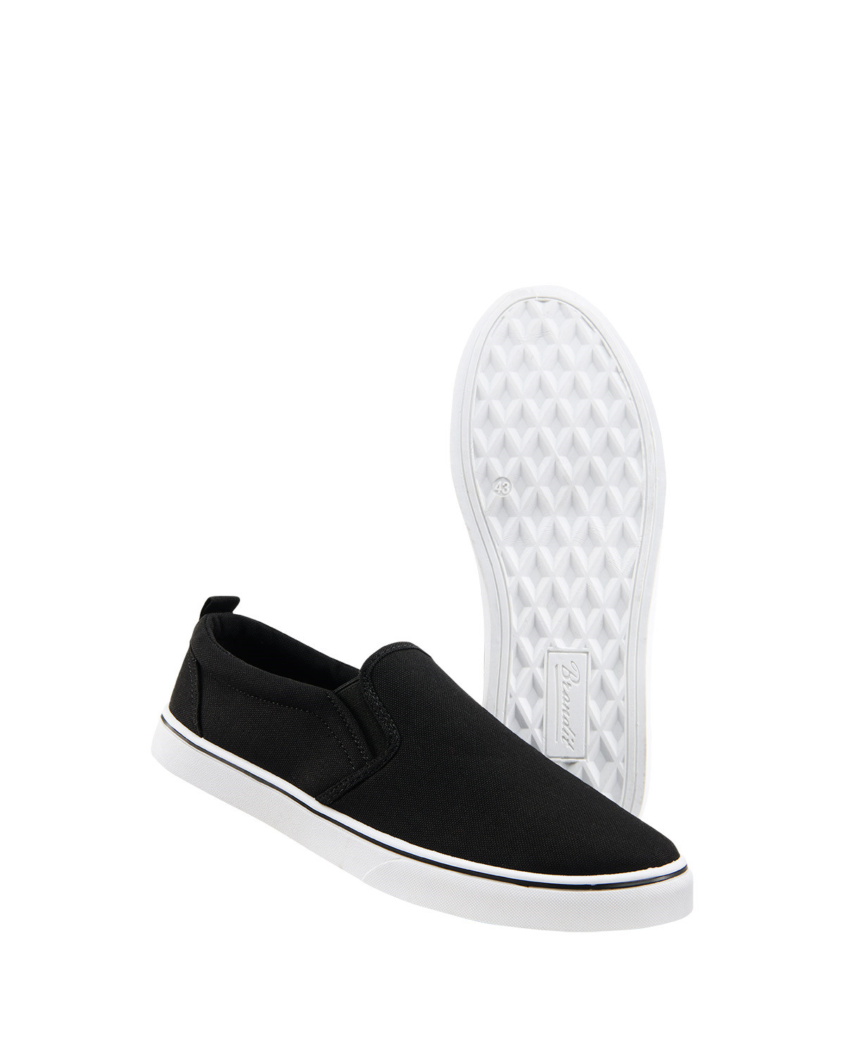 Image of   Brandit Southampton Slip On Sneaker (Sort / Hvid, 36 EU / 3 UK)