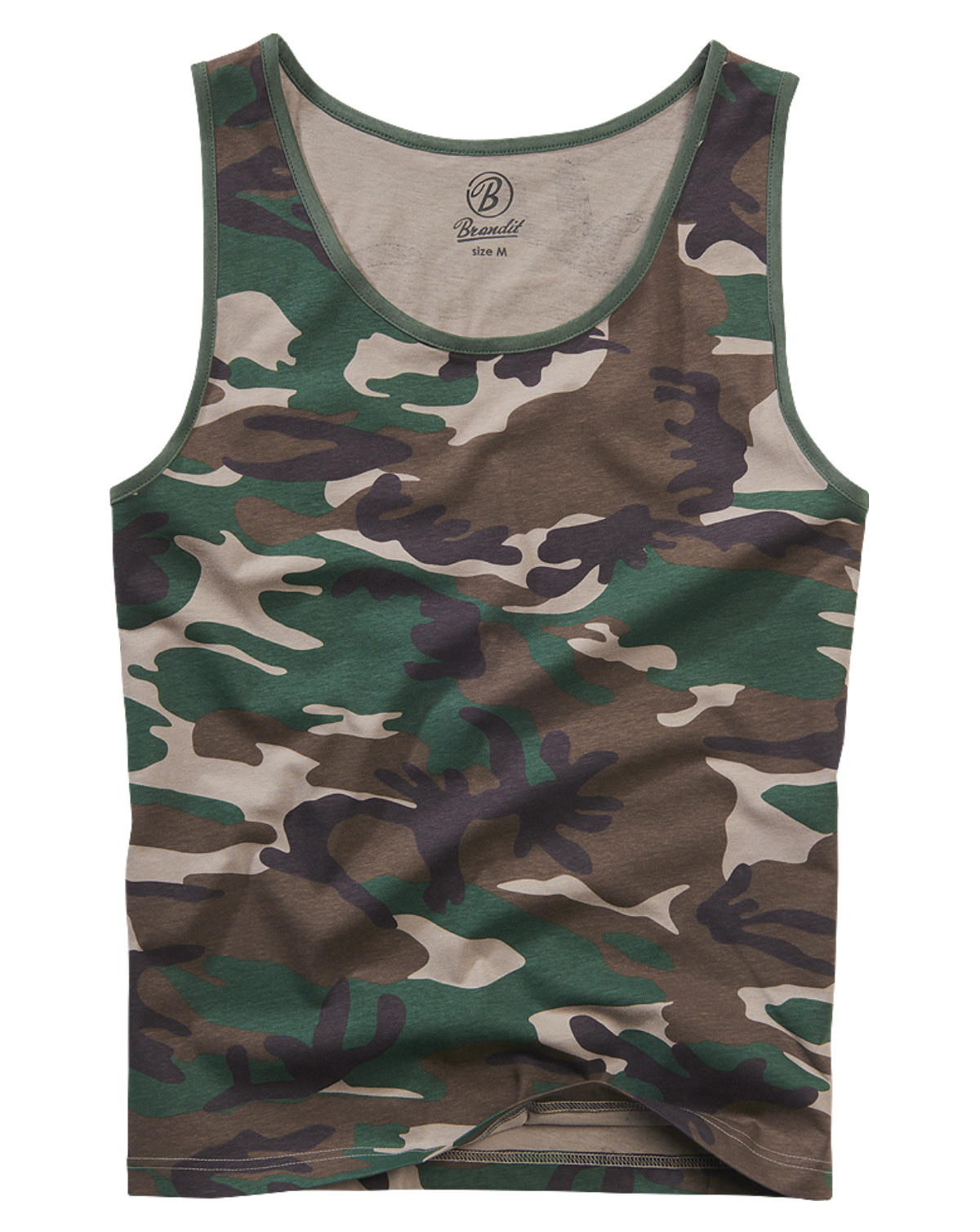 Image of   Brandit Tank Top (Woodland Camouflage, 2XL)