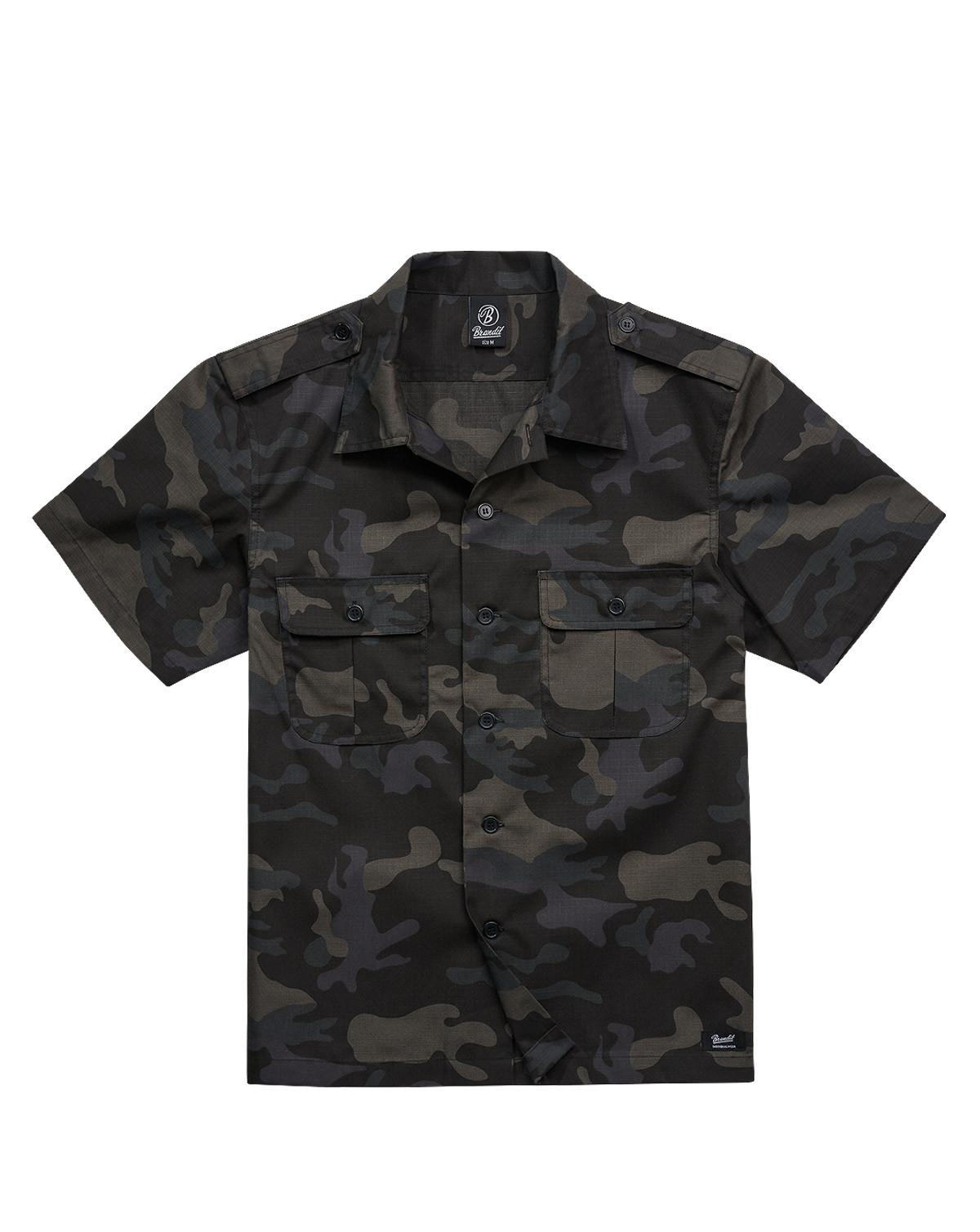 Brandit U.S. Army Shirt Ripstop (Dark Camo, XL)