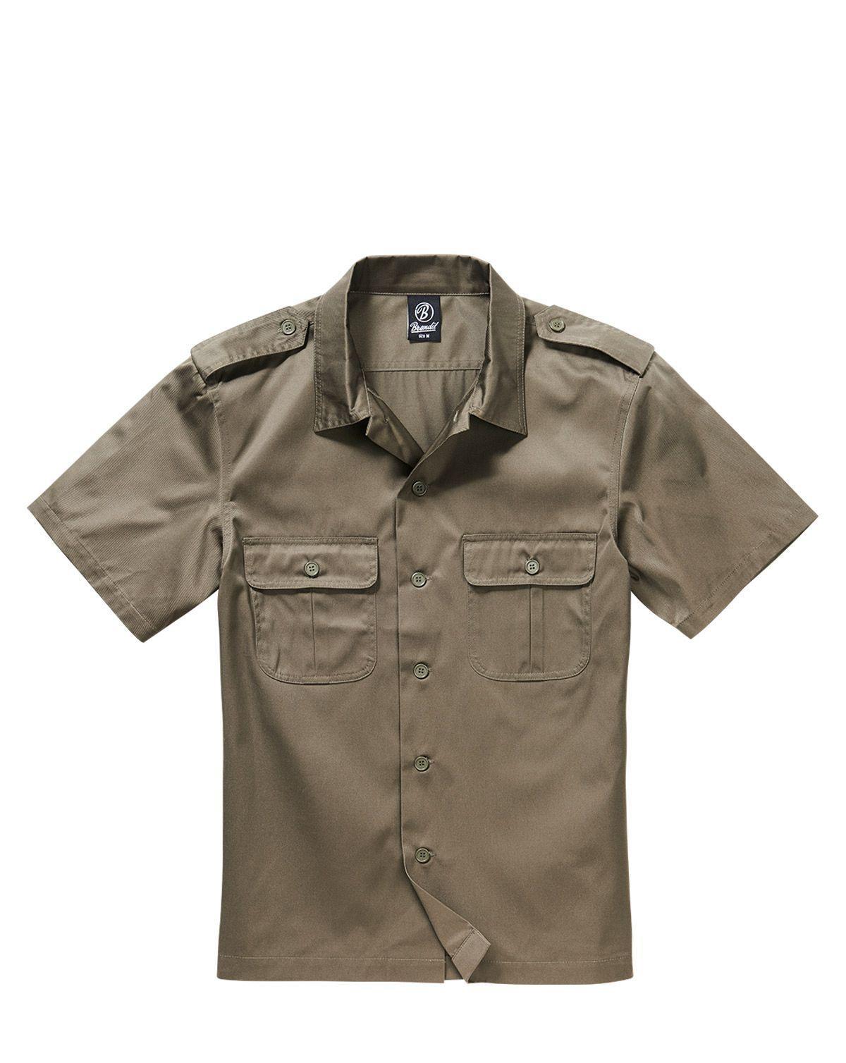 Image of   Brandit U.S. Army Skjorte (Oliven, 5XL)