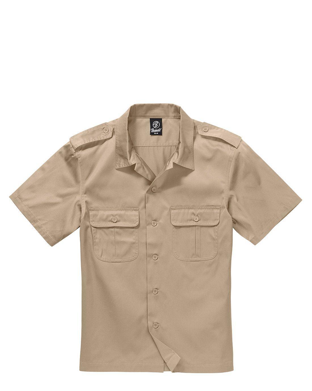 Image of   Brandit U.S. Army Skjorte (Beige, L)