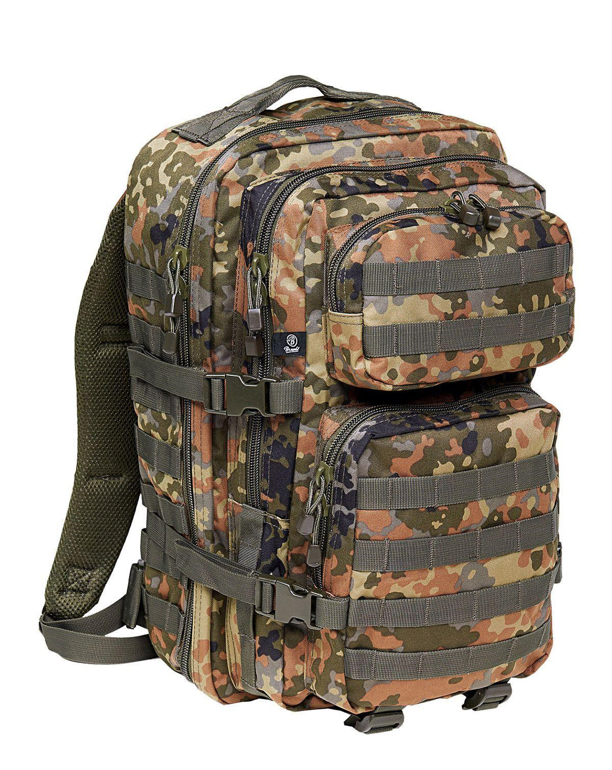 Image of   Brandit U.S. Assault Pack, Large (BW Flecktarn Camo, L)
