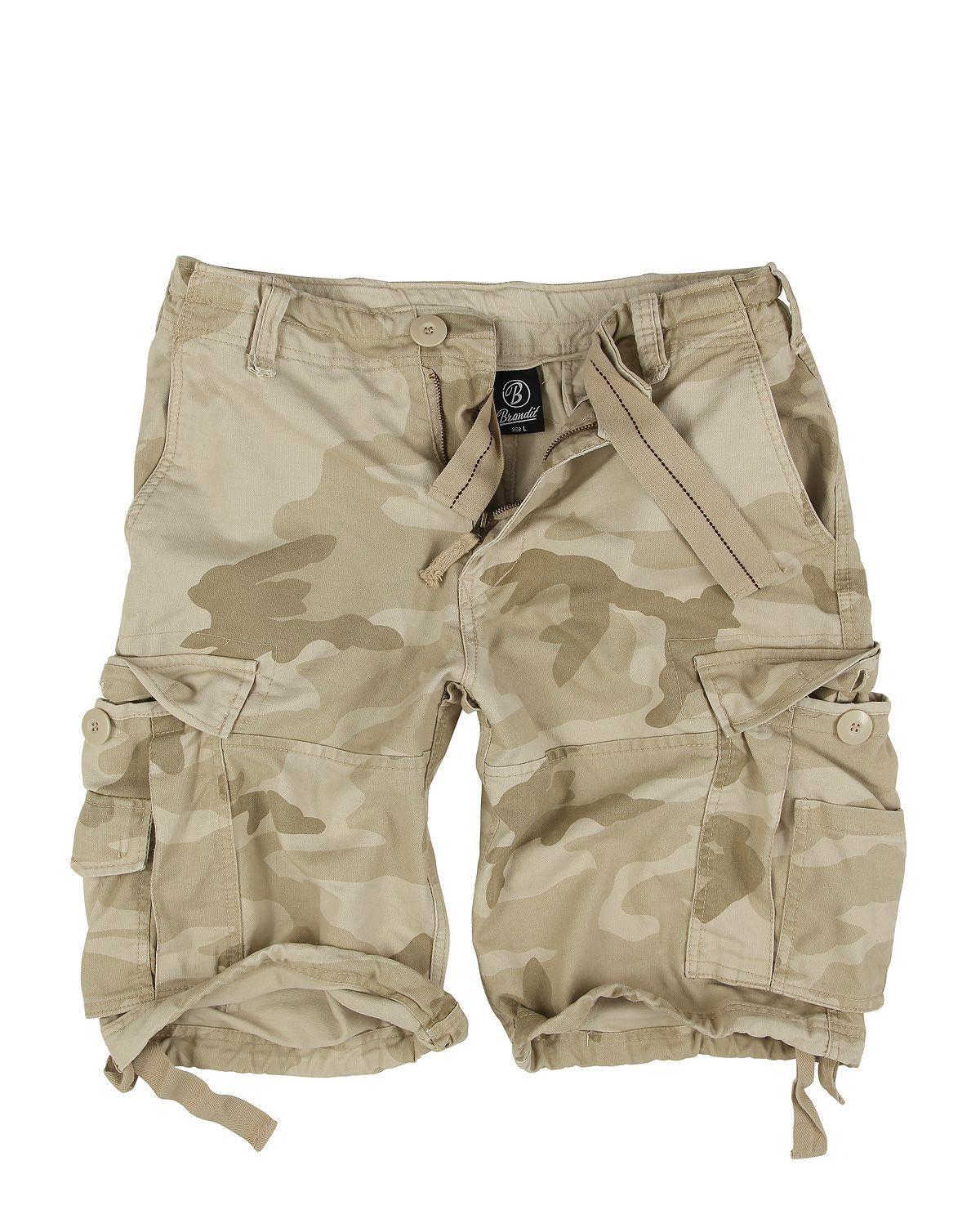 Brandit Vintage Shorts (Desert Camouflage, XL)