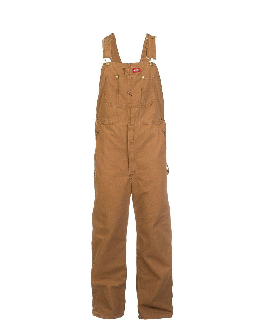 Image of   Dickies Bib Overall (Brown Duck, W30 / L30)