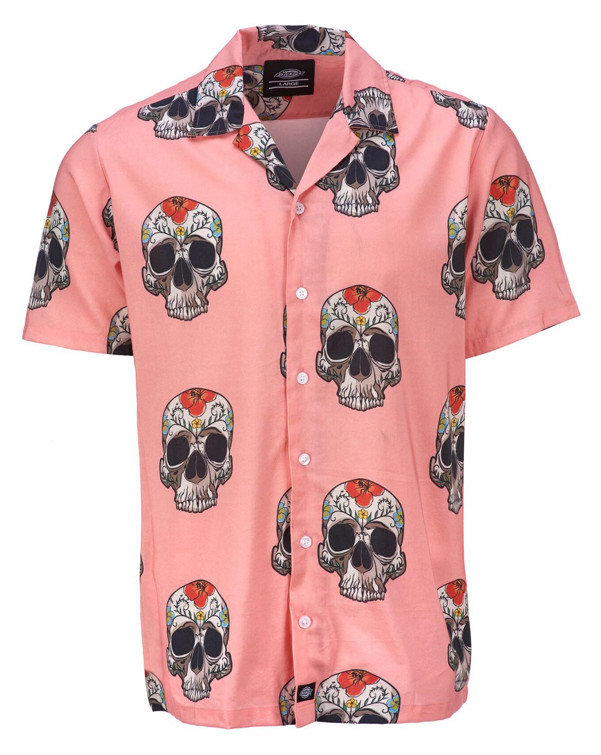 Image of   Dickies Blossvale Kortærmet Skjorte (Rose Pink, 2XL)
