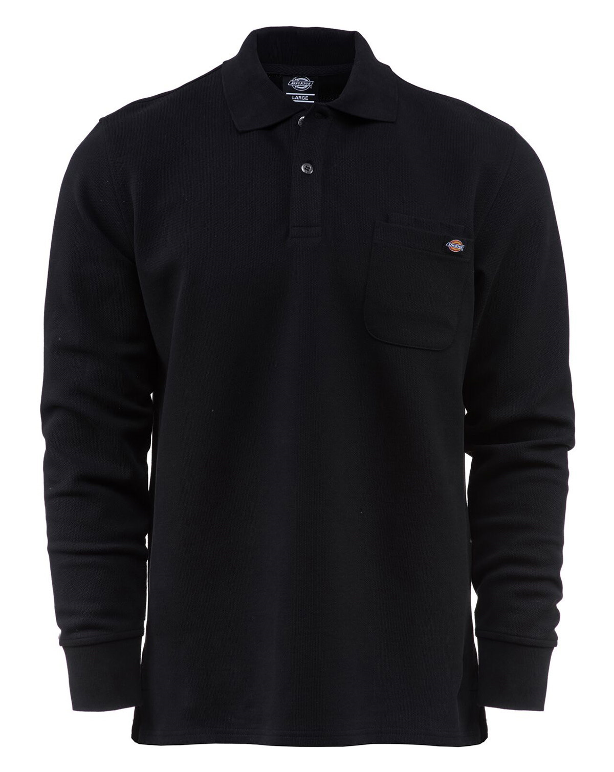 Image of   Dickies Canmer Langærmet Polo (Sort, 2XL)