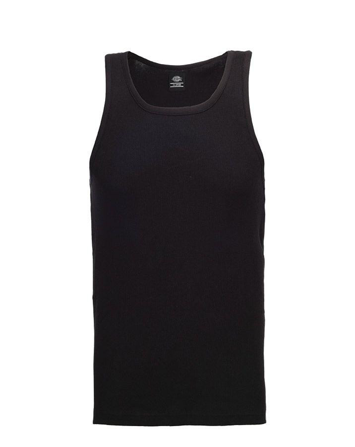 Image of   Dickies Fitted Tank tops - 3-Pak (Sort, 2XL)