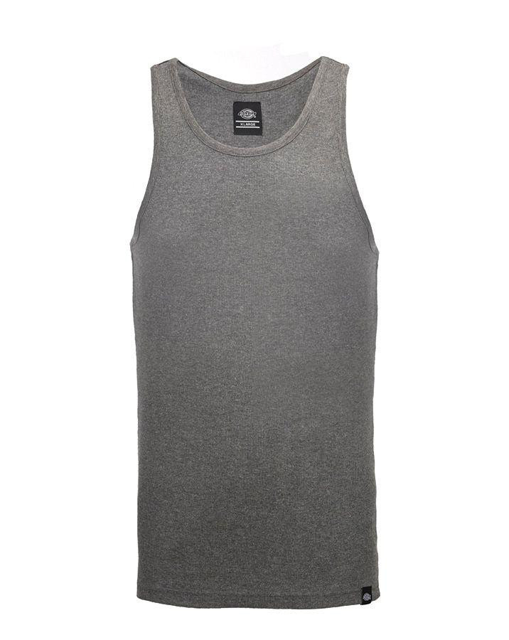 Image of   Dickies Fitted Tank tops - 3-Pak (Mørkegrå, 3XL)