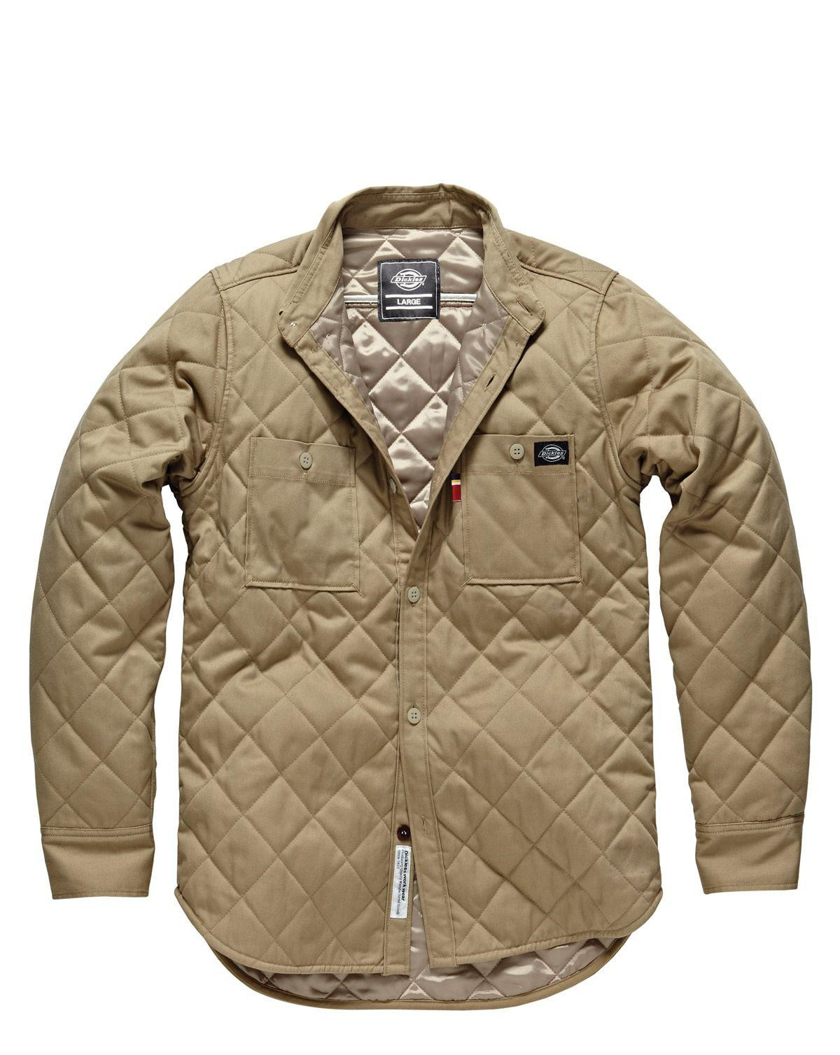 Dickies Gilcrest Quilted Shirt (Khaki, S)