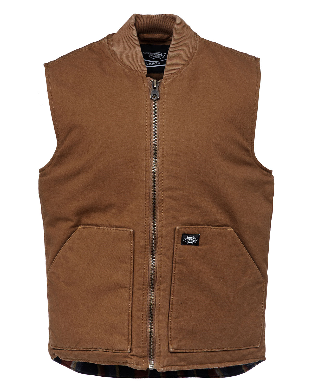 Image of   Dickies Lawrenceburg Canvas Vest (Brown Duck, XL)