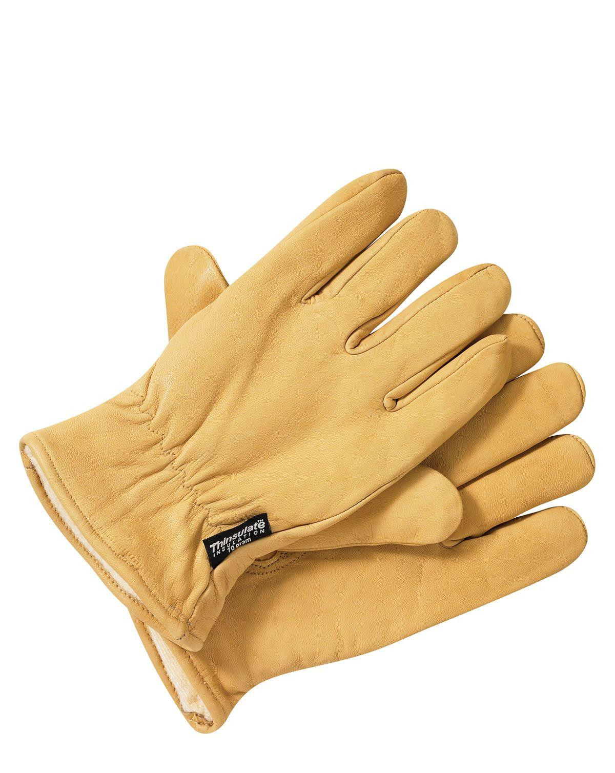 Image of   Dickies Lined Læderhandsker (Tan, 2XL)