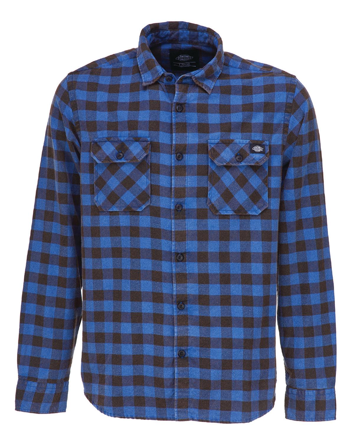 Image of   Dickies Rock Hall Skjorte (Blå, S)