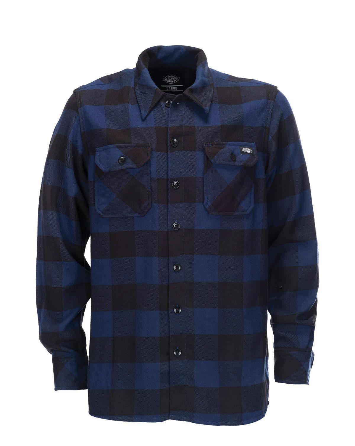 Image of   Dickies Sacramento Langærmet Skjorte (Blå, 2XL)