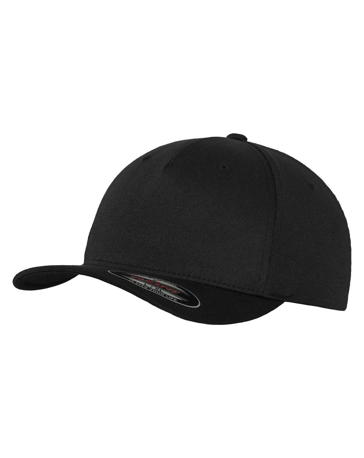 Image of   Flexfit 5 Panel Cap (Sort, L/XL)