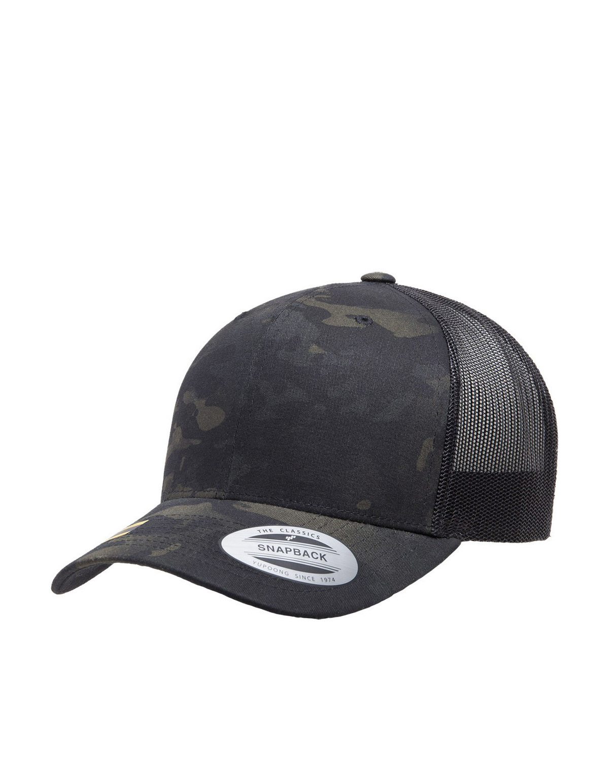 Image of   Flexfit Baseball Cap m. Mesh (Sort / Multicam, One Size)