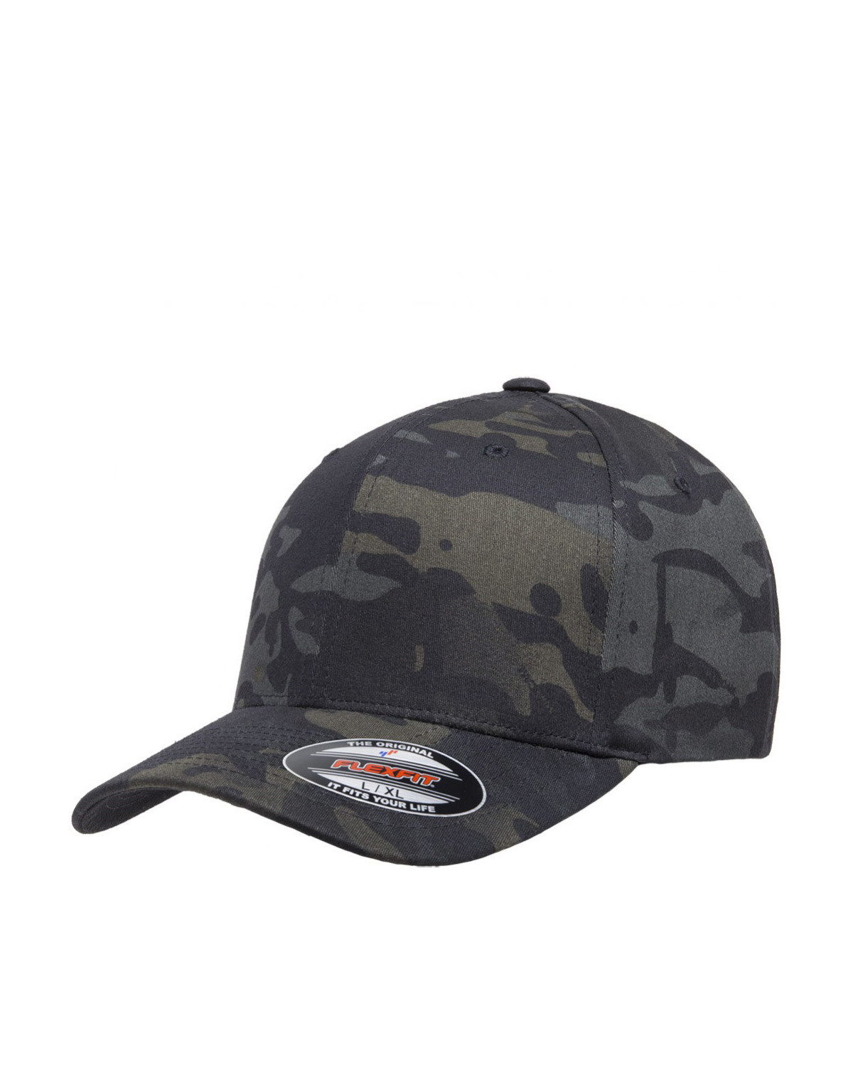 Image of   Flexfit Baseball Cap (Sort / Multicam, S/M)