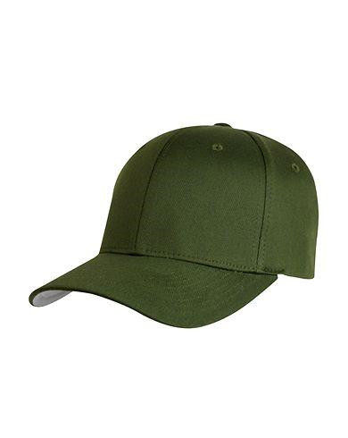 Image of   Flexfit Baseball Cap (Oliven, XS / Youth)