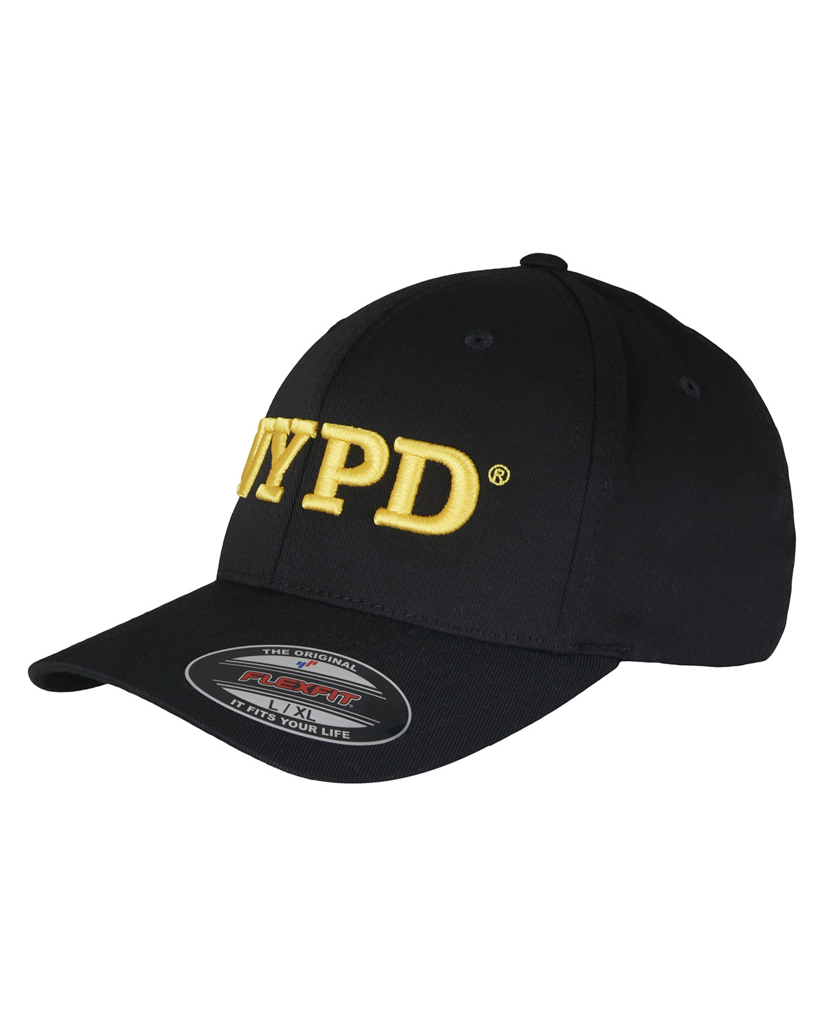 Image of   Flexfit NYPD 3D Logo Flexfit Cap (Sort, L/XL)