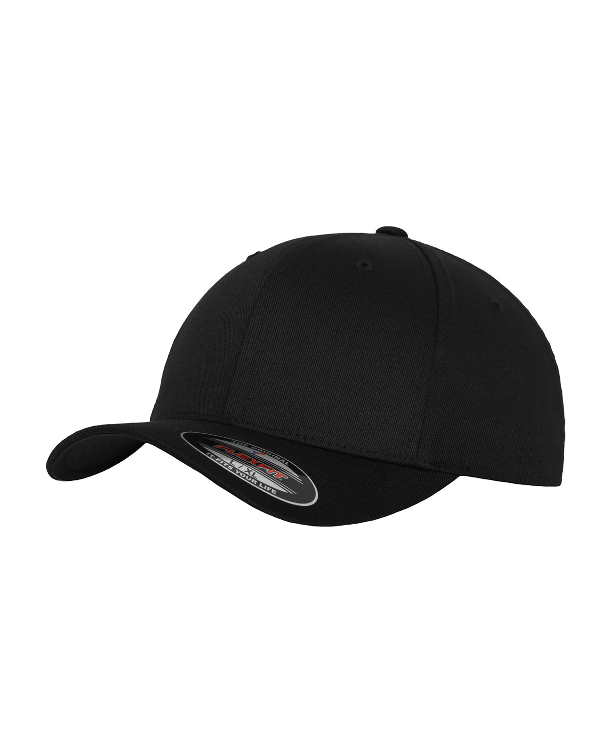 Image of   Flexfit Wooly Combed Cap (Black / Black, L/XL)