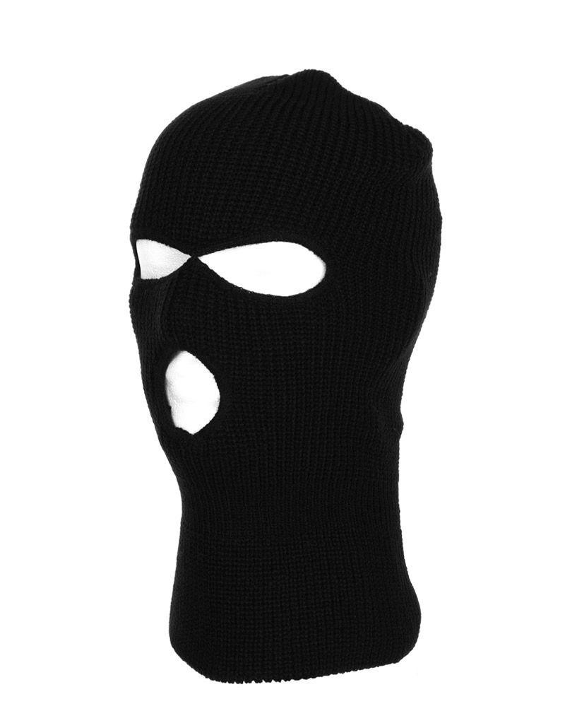 Image of   Fostex 3-huls Balaclava - Uld (Sort, One Size)