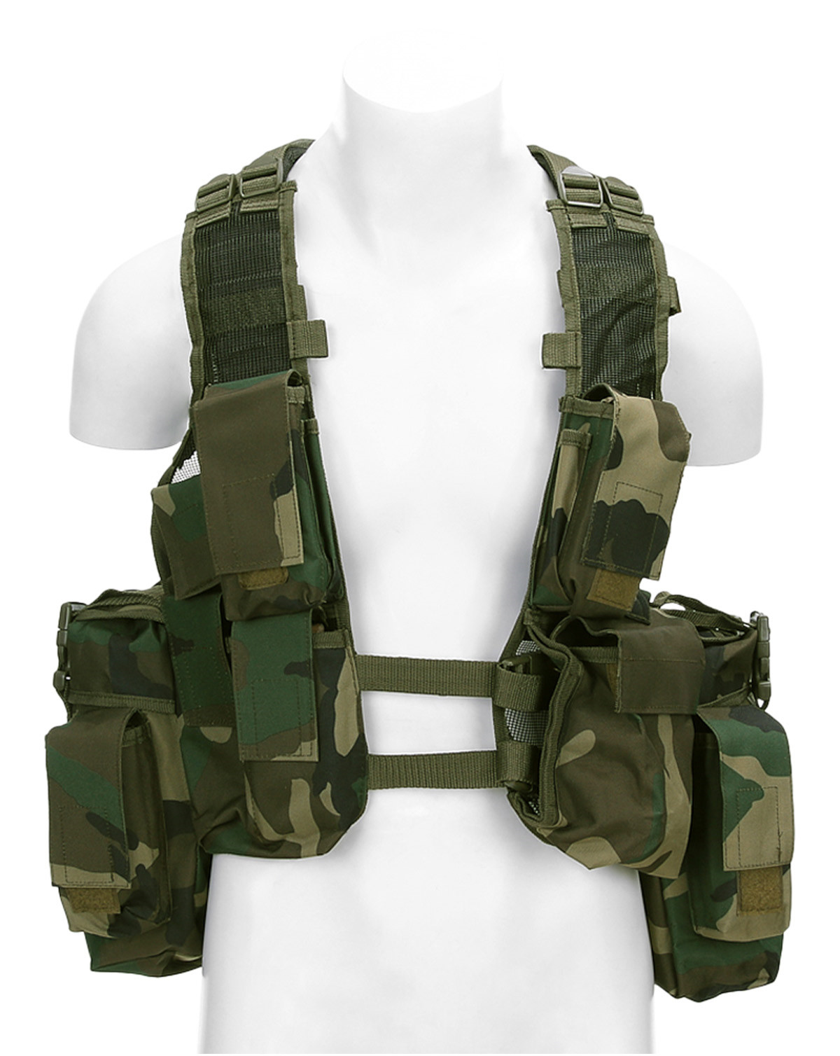 Image of   Fostex Assault Vest (Woodland, One Size)