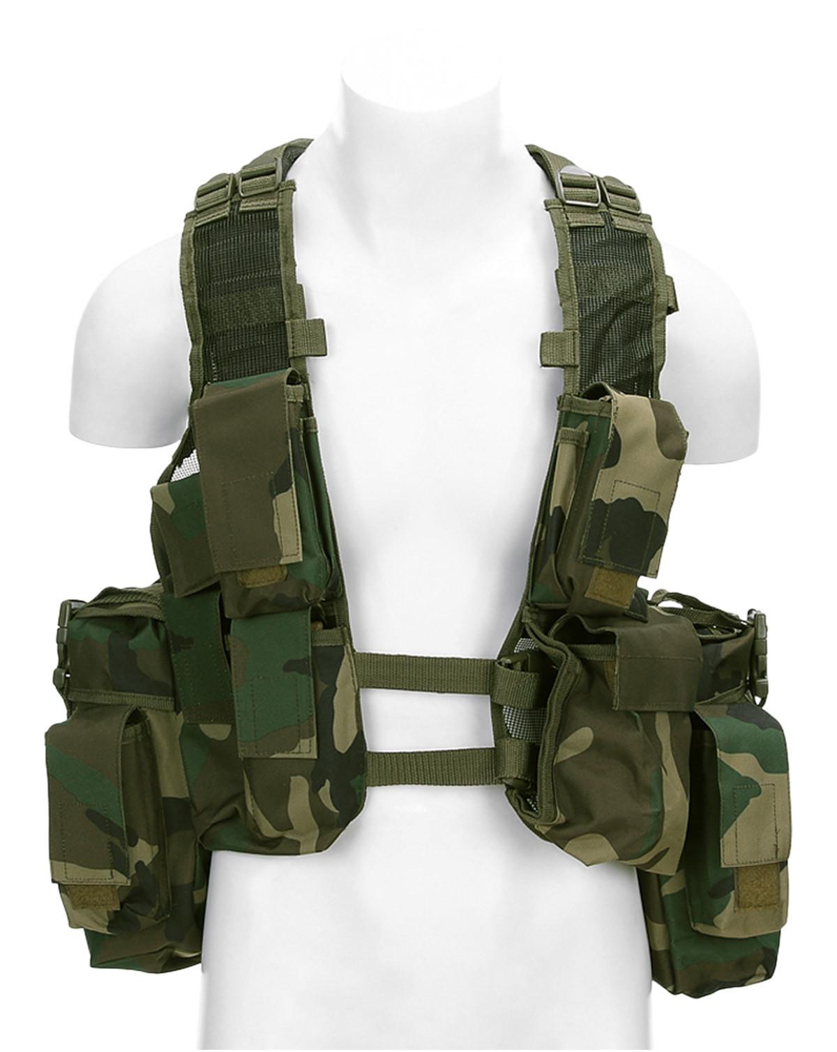 Image of   Fostex Assault Vest (Woodland, One Size)