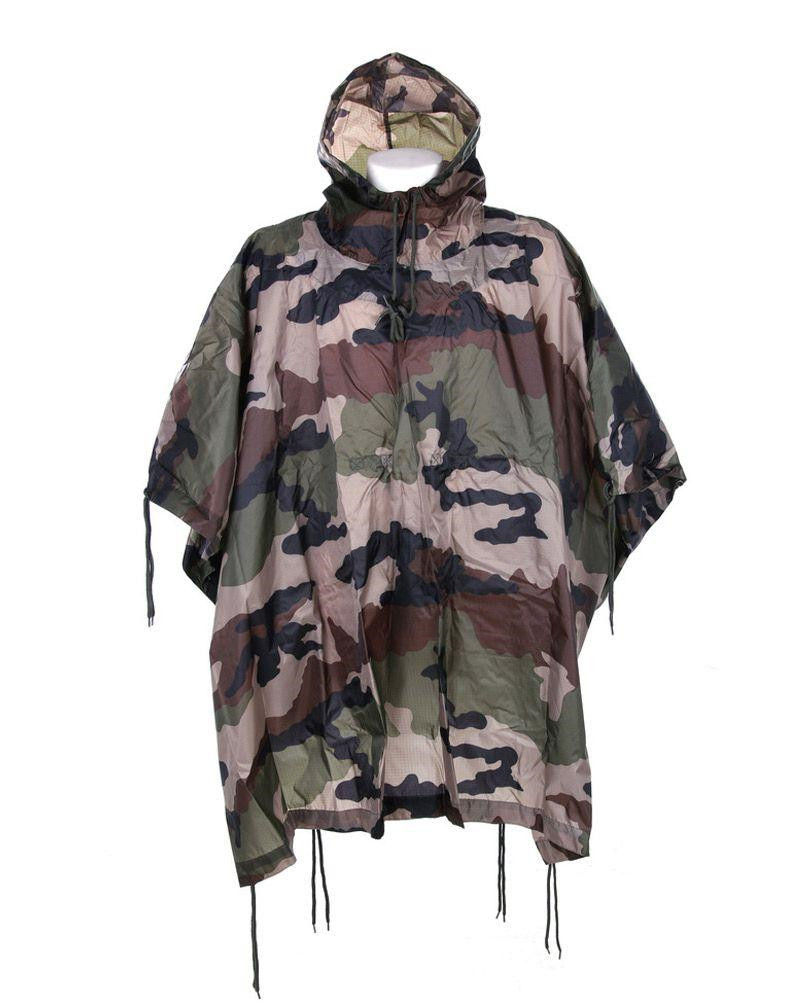 Image of   Fostex Camouflage Poncho, ripstop (Fransk CCE, One Size)