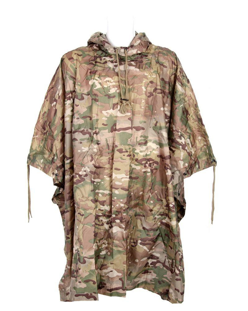 Image of   Fostex Camouflage Poncho, ripstop (ACU Camo, One Size)