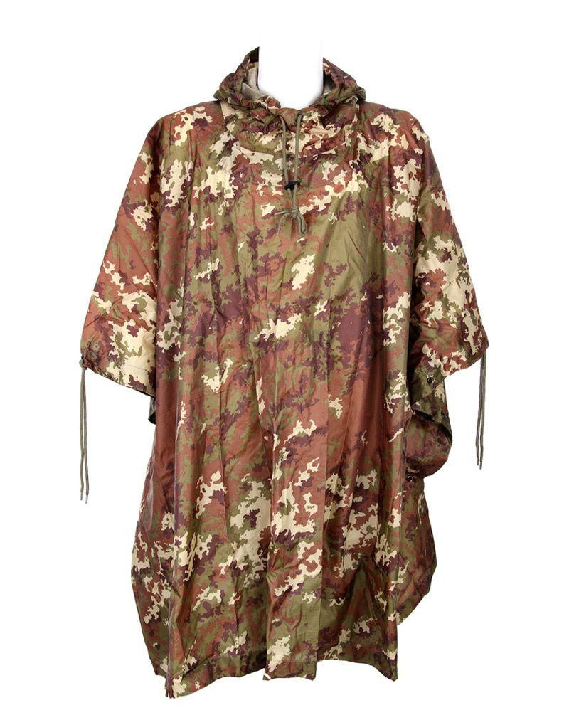 Image of   Fostex Camouflage Poncho, ripstop (Vegetato, One Size)