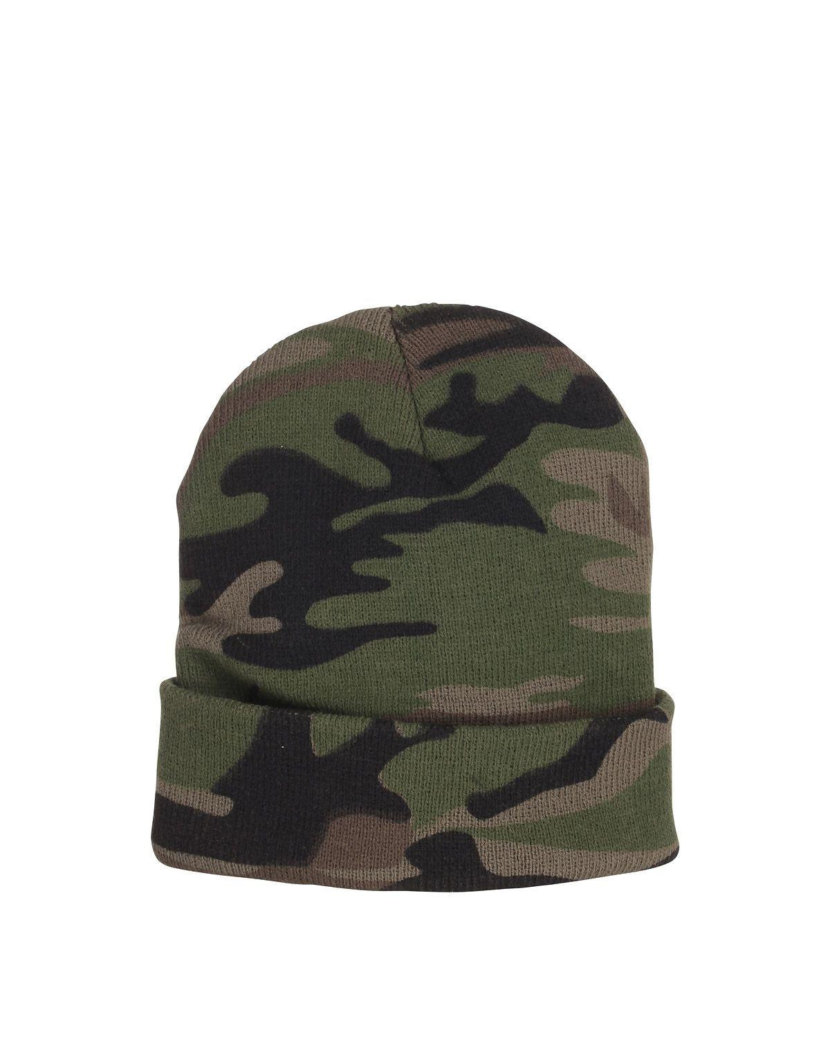 Image of   Fostex Camouflage Watchcap (Woodland, One Size)