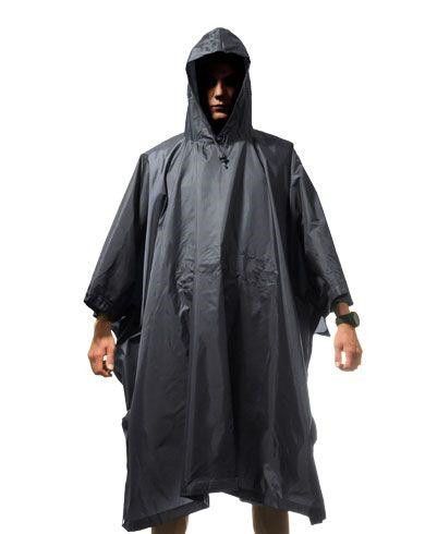 Image of   Fostex Regn-poncho (Sort, One Size)