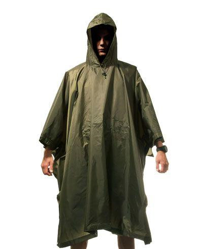 Image of   Fostex Regn-poncho (Oliven, One Size)