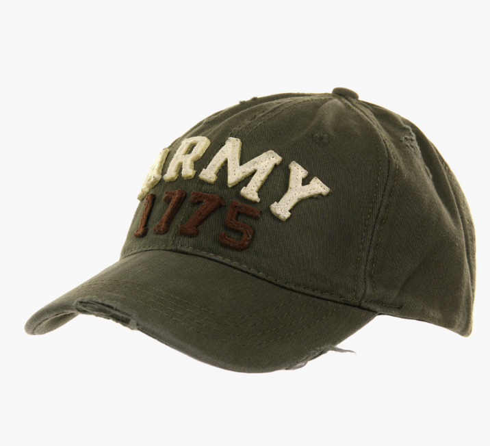 Image of   Fostex Vintage Baseball Caps (Oliven m. ARMY, One Size)