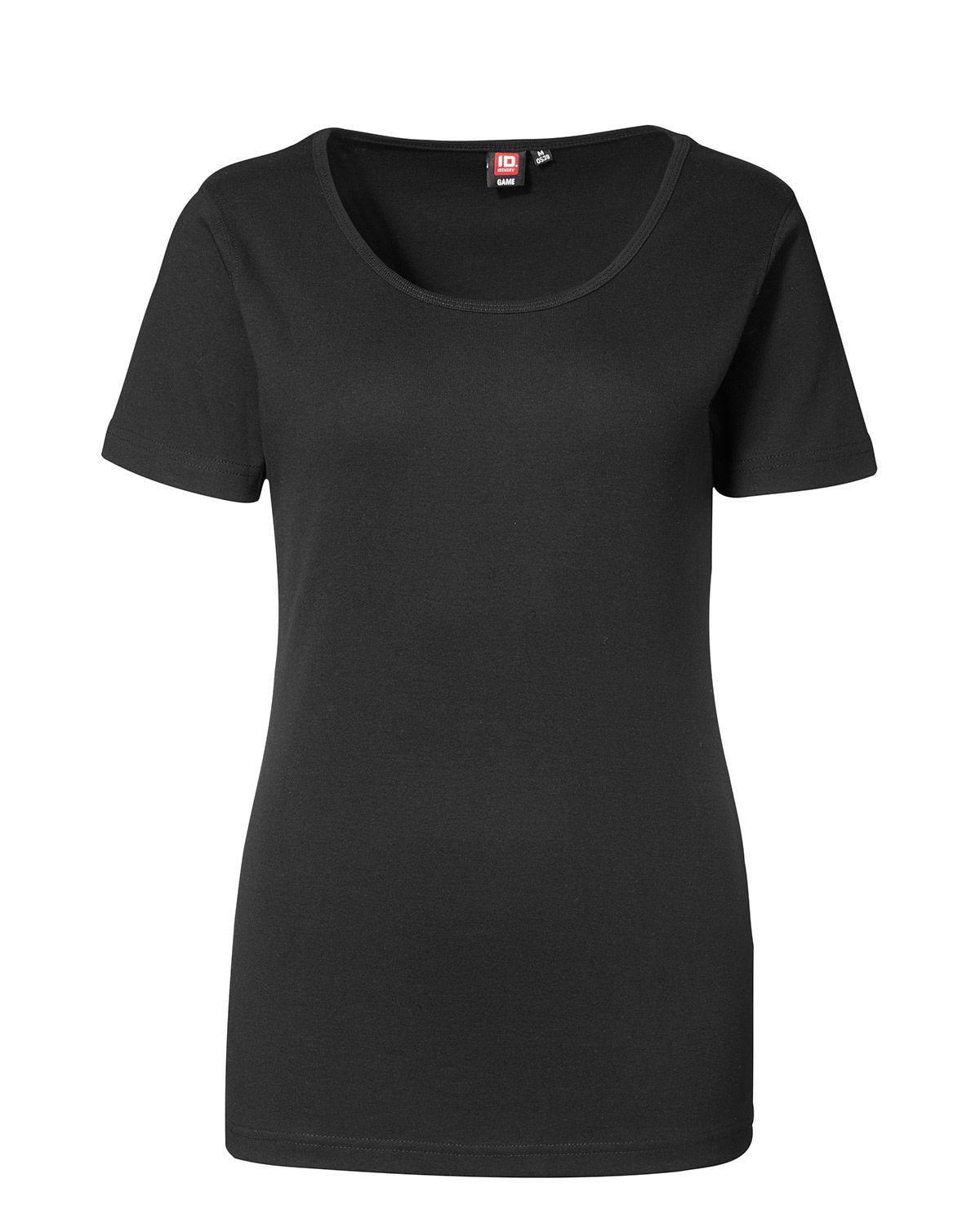 ID 1x1 rib T-shirt til Kvinder (Sort, 2XL)