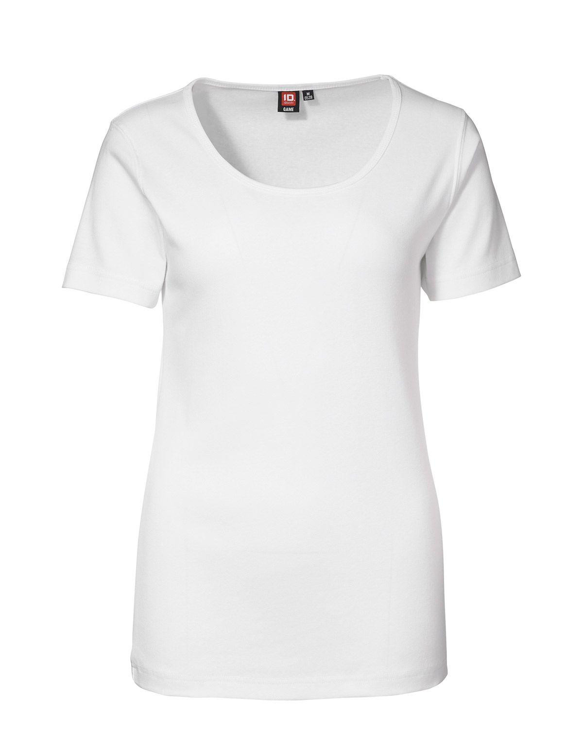 ID 1x1 rib T-shirt til Kvinder (Hvid, 2XL)