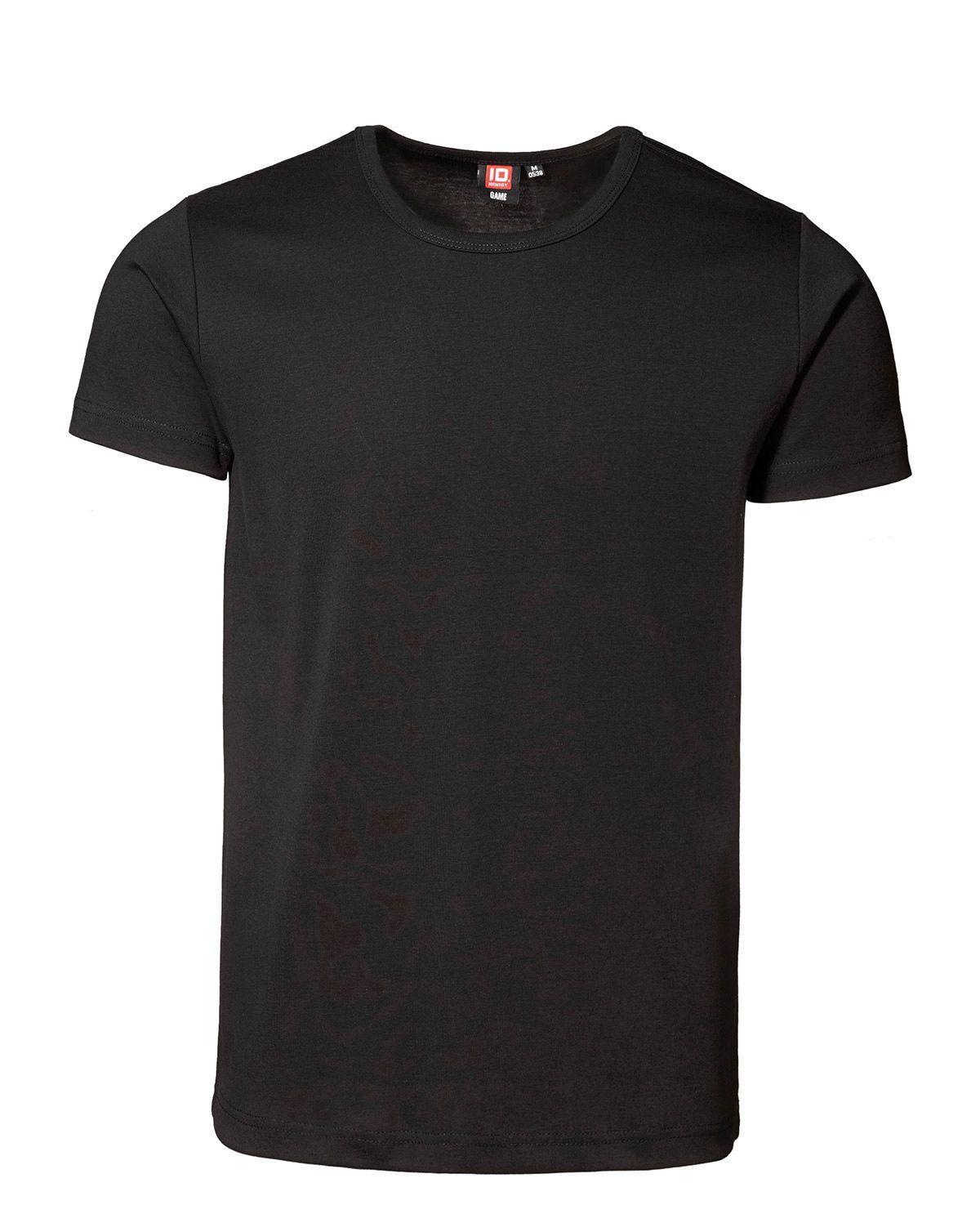 ID 1x1 rib T-shirt (Sort, 2XL)