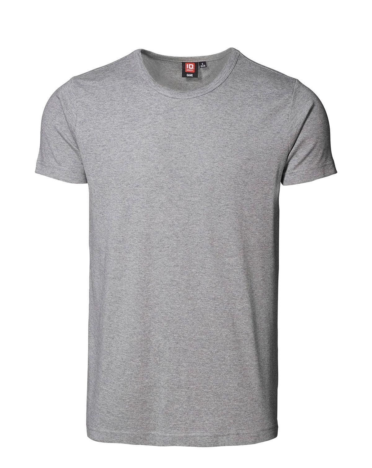 ID 1x1 rib T-shirt (Grå Meleret, 2XL)