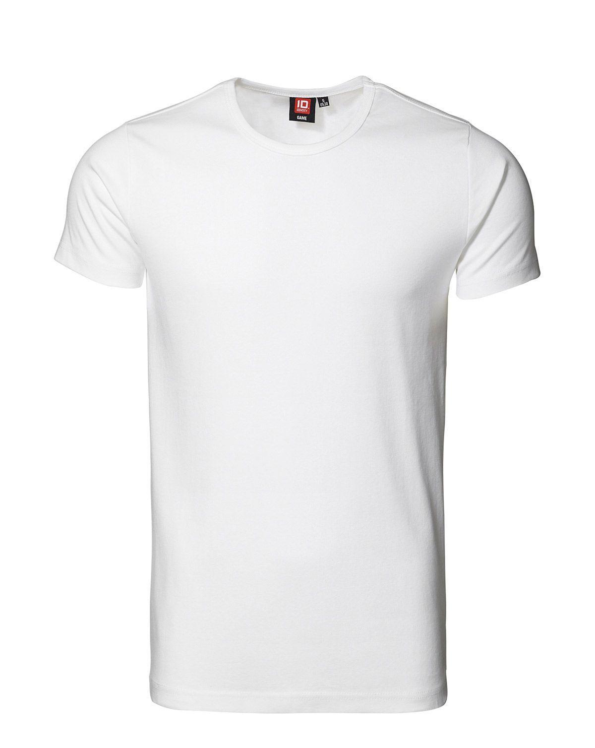 ID 1x1 rib T-shirt (Hvid, 2XL)