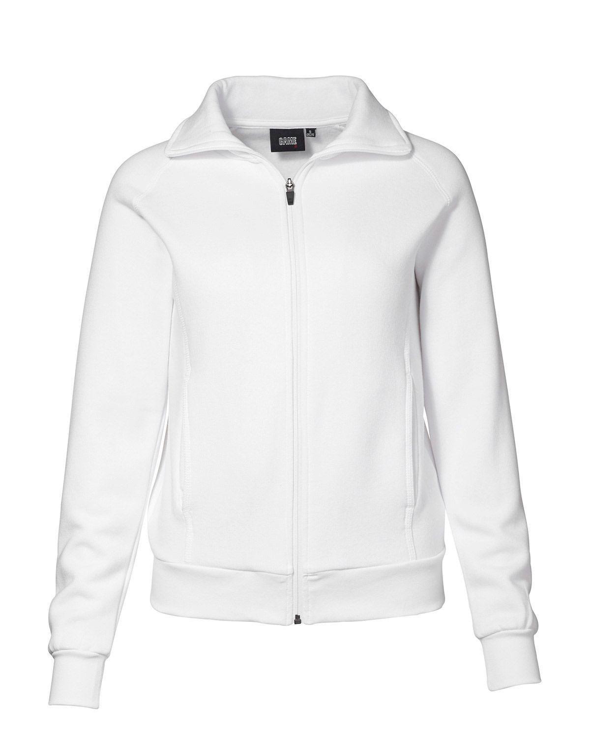 ID Cardigan Sweatshirt för Kvinnor (Vit, XS)