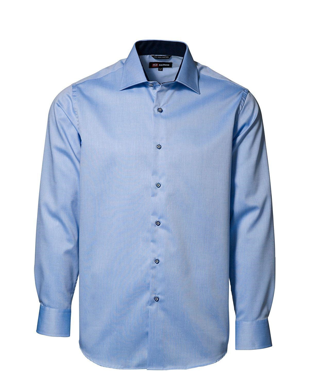 Image of   ID Easy Iron-skjorte (Lyseblå, 47 / 48)